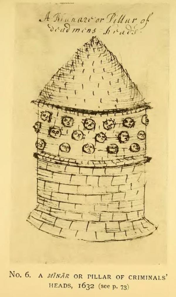 La torre en una ilustración del siglo XVII