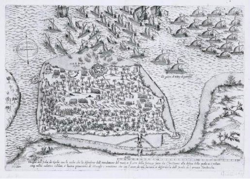 La flota otomana cae sobre Djerba