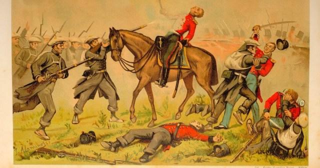 Batalla de Oriamendi (Fuente: gipuzkoakomuseoak.net)
