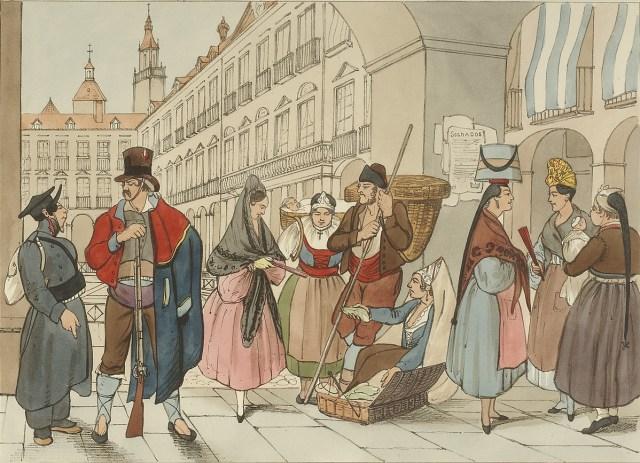 Plaza de Vitoria en 1835