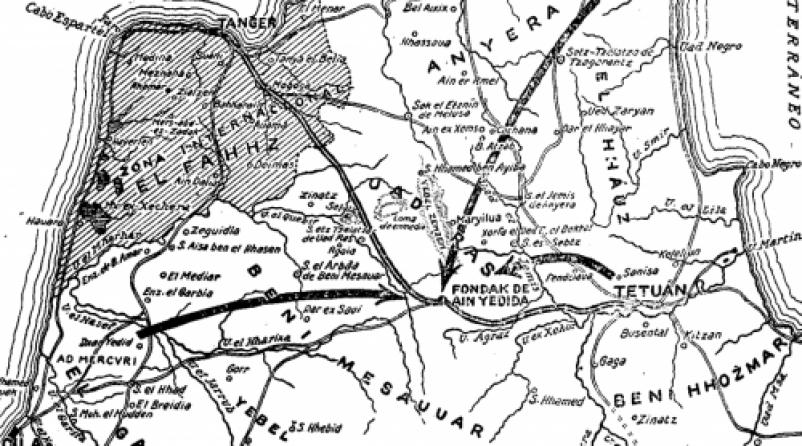 Mapa de operaciones del día 25 de septiembre de 1919