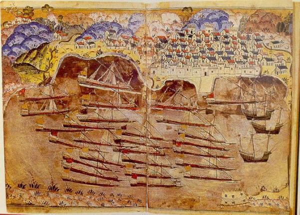 Flota Otomana en la costa francesa