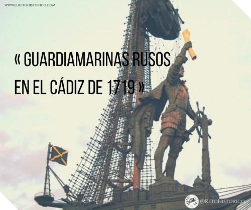 Guardiamarinas rusos en la Escuela de guardiamarinas de Cádiz en 1719