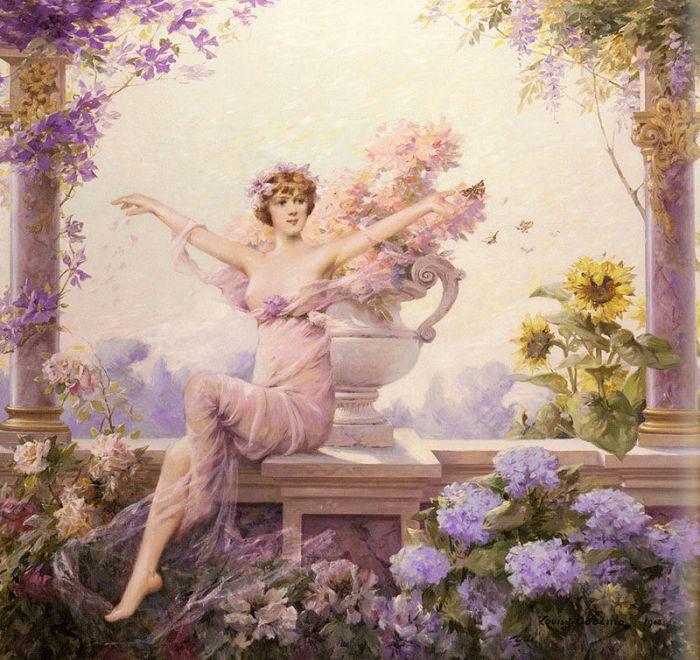 Flora, obra de Louise Abbéma (1913).