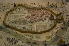 Maqueta. Recreación de la conquista de Sevilla – Museo Militar.