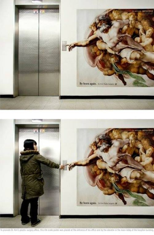 Botón de ascensor con mucho Arte