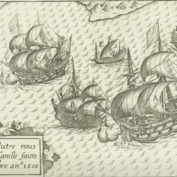 Batalla naval en Manila siglo XVII (Museo Nacional de Ámsterdam)