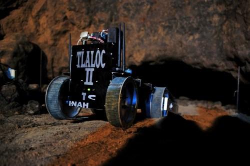 Uno de los robots que usaron en la primera parte de las exploraciones
