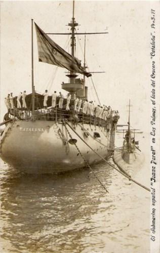 Submarino Isaac Peral en Canarias