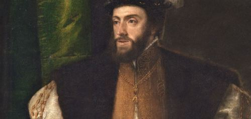 """[detaññe] """"El emperador Carlos V con un perro"""" (1533) Tiziano. Museo Nacional del Prado"""