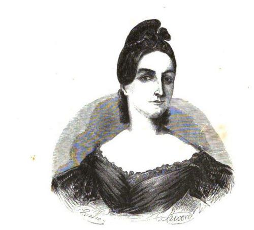 Mariana Pineda en un grabado del siglo XIX, poco después de su muerte.