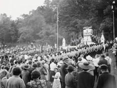 Discurso en 1938 celebrando el aniversario de la Federación (Foto: Archivo Getty)