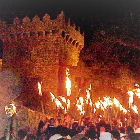 Recreación actual de la revuelta irmandiña en Monforte