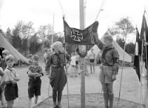 Homenaje a Hindenburg en el campamento de la Amerikadeutscher Bund en Griggstown, Nueva Jersey (Foto: Archivo Getty)