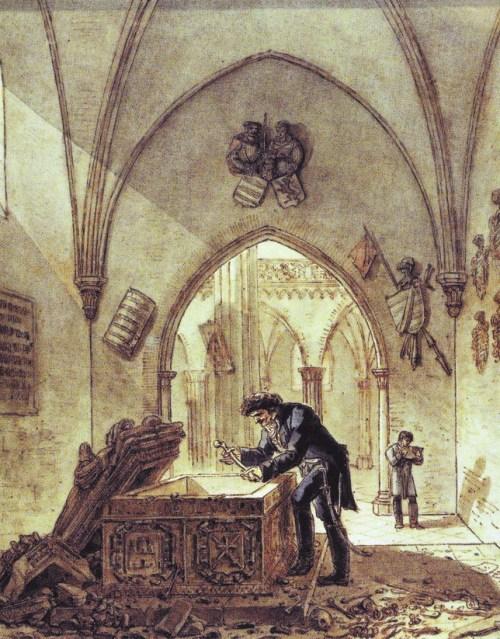 Vivant Denon devolviendo los restos de El Cid y Doña Jimena a su sepulcro.
