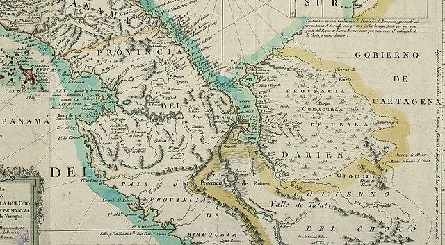"Mapa de 1785 que ubica la ya desaparecida ""Nª Sª de la Antigua""."