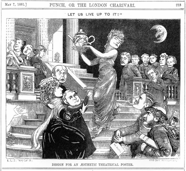 Una ilustración de la revista Punch sobre el esteticismo