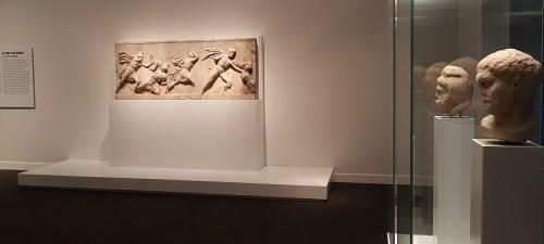 Fragmento del friso del Mausoleo de Halicarnaso, una de las siete maravillas del mundo antiguo