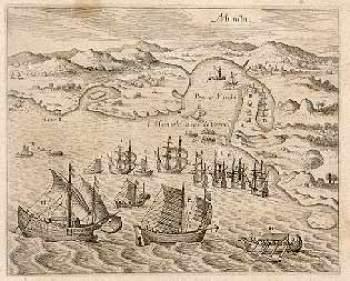 Manila en el siglo XVI. Por Theodorus Bry