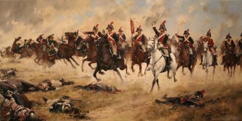 Augusto Ferrer Dalmau: Carga del Regimiento de Caballería España en la batalla de Bailén.