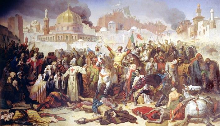 Monstgisard Cruzadas batalla rey leproso
