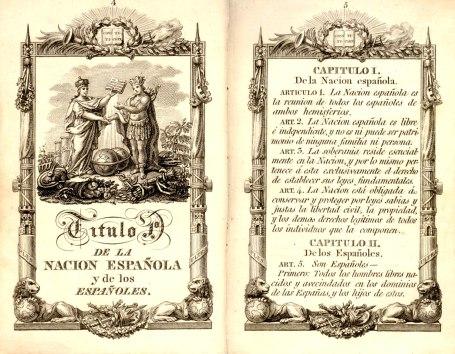 Tituo I de la Constitución de 1812