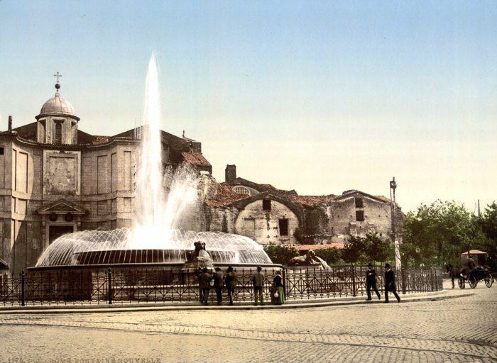 La fuente de las náyades en la Piazza della Repubblica