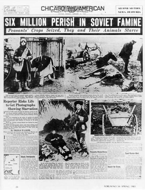 Ucrania, Holodomor, URSS, hambruna