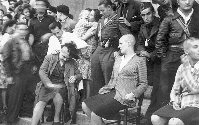 tondues colaboración francia liberación represalias