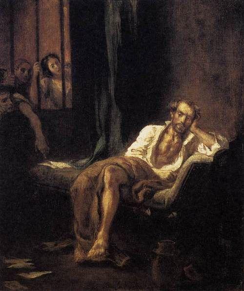 Eugene Delacroix. Tasso en St. Anne's Hospital, 1839