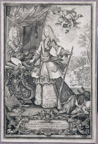 reina, Isabel de Farnesio, caza