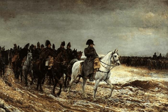 Napoleón se retira de Moscú