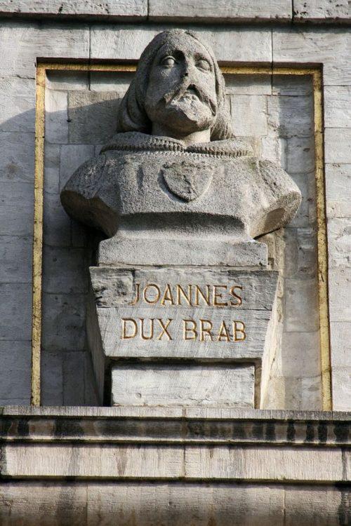 Busto de Juan I de Brabante (c. 1252–1294) en el Gran Palacio de Bruselas.
