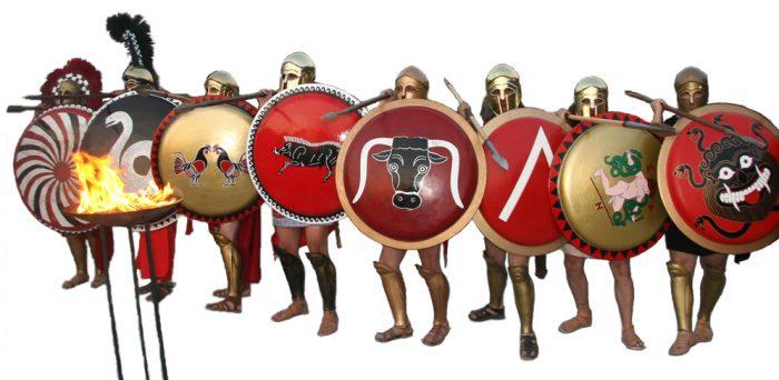 fila de hoplitas