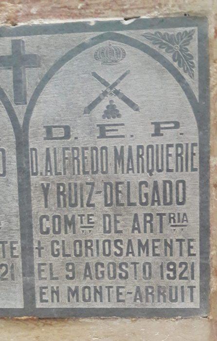 artillero Alfredo Marqueríe