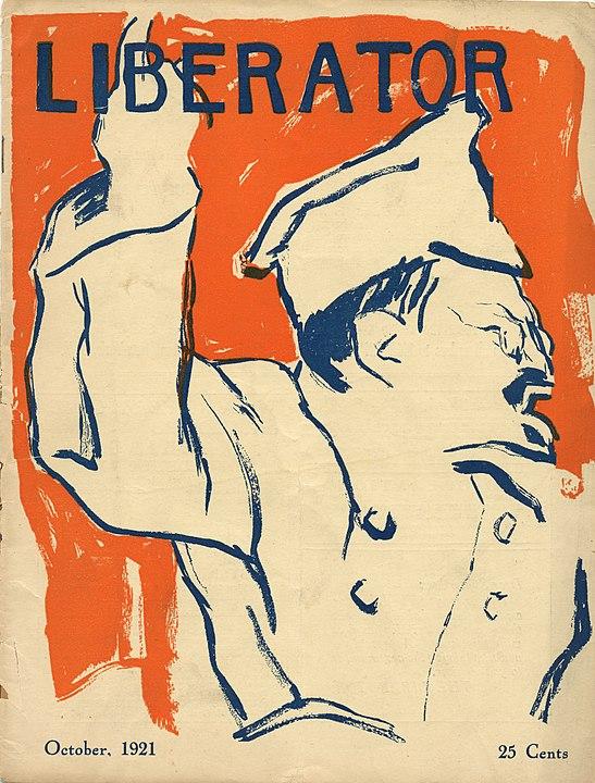 Trotski en la revista estadounidense The Liberator, octubre de 1921.