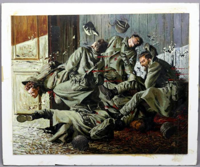 Escena de lucha de la Segunda Guerra Mundial