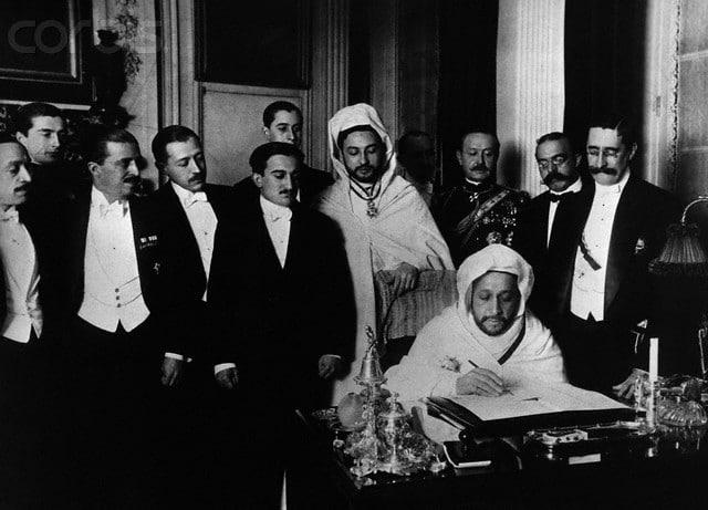 Firma del tratado de Algeciras