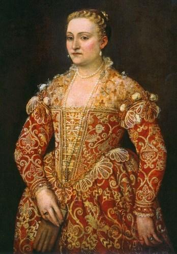 Retrato de una dama sosteniendo guantes circa 1560 . Dublín, Galería Nacional de Irlanda.