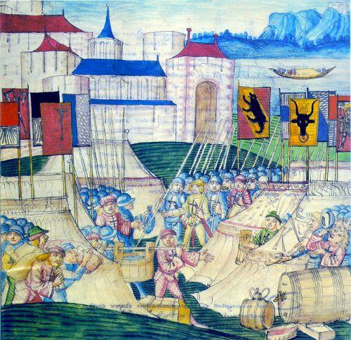 guerra borgoña suizos