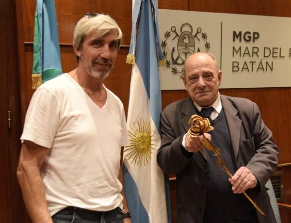 Foto MGP - Arroyo recibio a Julio Aro