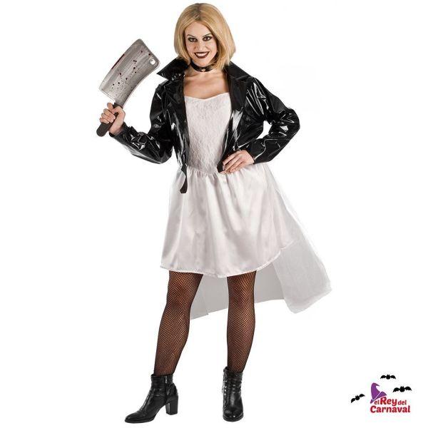 disfraz novia payaso diabolico adulto