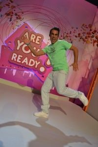 Felipe Delgadillo pasándoselo bien en Are you ready?