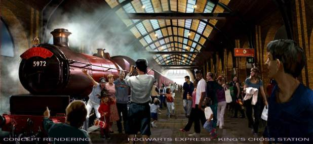 El parque temático de Harry Potter (estación metro)