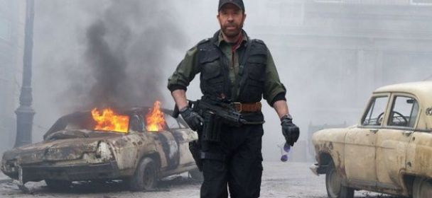 Chuck Norris en The Expendables 2