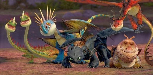 Los diferentes dragones de How to Train your Dragon