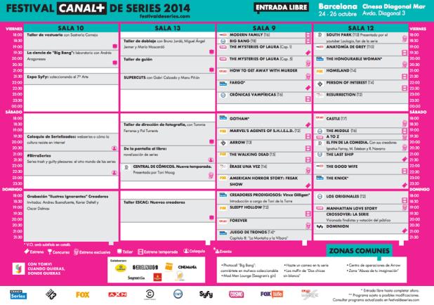 Todos los detalles del Festival de Series 2014 - Programa