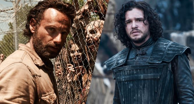 Guerra social entre Game of Thrones y The Walking Dead