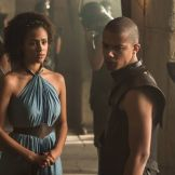 Missandei y Grey Worm en la quinta temporada de Game of Thrones