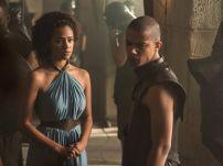 Missandei y Grey Worm en la quinta temporada de Game of Thrones